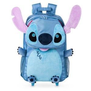 Disney Stitch traveling Rolling Backpack NWT